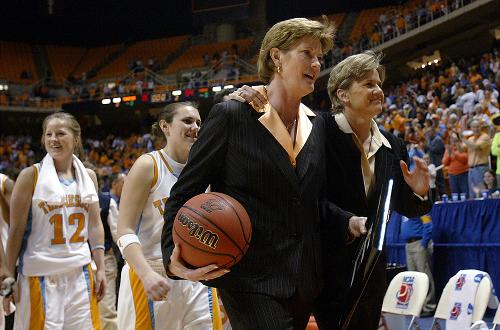 Basketball photos of Coach Summitt from the Pat Summitt Foundation